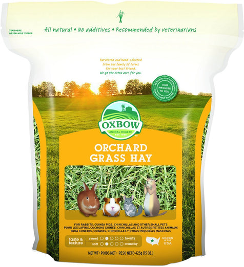 2 FOR $18.30: Oxbow Orchard Grass Hay 15oz - Kohepets