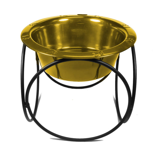 Platinum Pets Olympic Single Raised Feeder Wide Rimmed Dog Bowl (1 x 2 Cups) - Kohepets