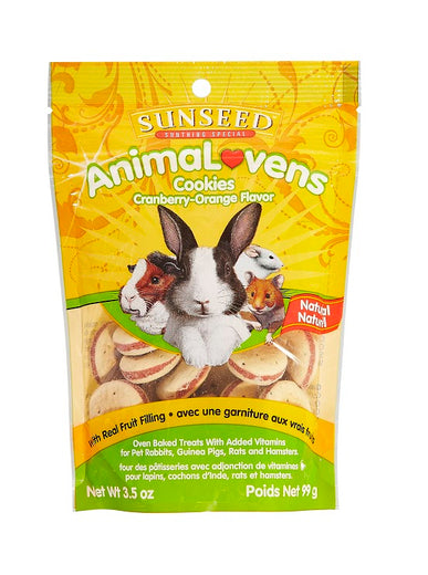 Sunseed AnimaLovens Cranberry-Orange Cookies For Small Animals 3.5oz - Kohepets