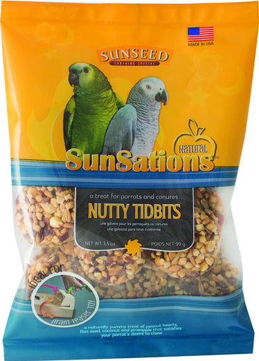 Sunseed SunSations Nutty Tidbits Bird Treat 3.5oz - Kohepets