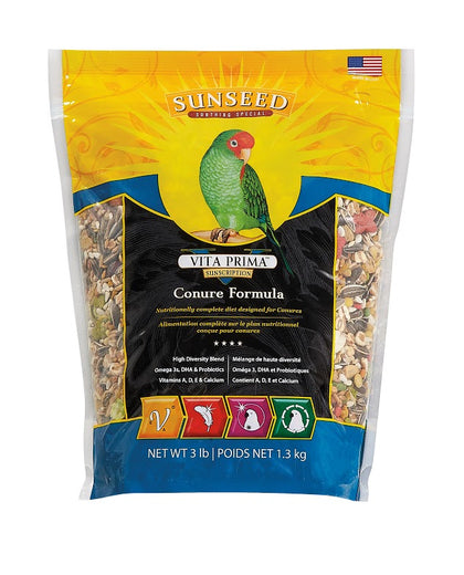 Sunseed Vita Prima Conure Formula Bird Food 3lb - Kohepets