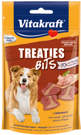 Vitakraft Treaties Bits Liver Sausage Dog Treat 120g