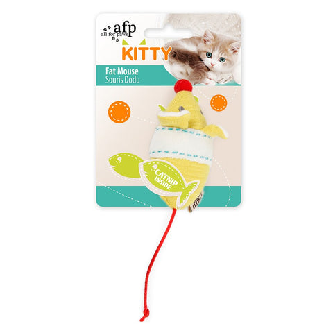 All For Paws Kitty Fat Mouse Cat Toy - Kohepets