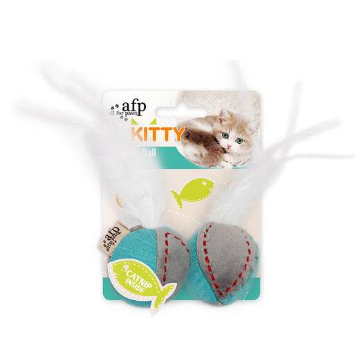All For Paws Kitty Feather Ball Cat Toy - Kohepets
