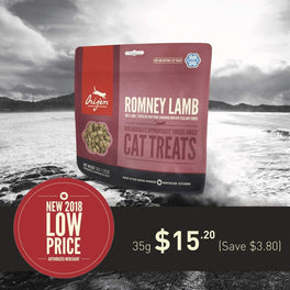20% OFF: Orijen Romney Lamb Freeze Dried Cat Treats 35g