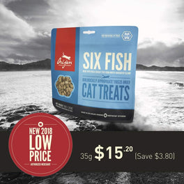 20% OFF: Orijen Six Fish Freeze Dried Cat Treats 35g