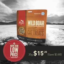30% OFF: Orijen Wild Boar Freeze Dried Cat Treats 35g (Exp 21 Feb 19)