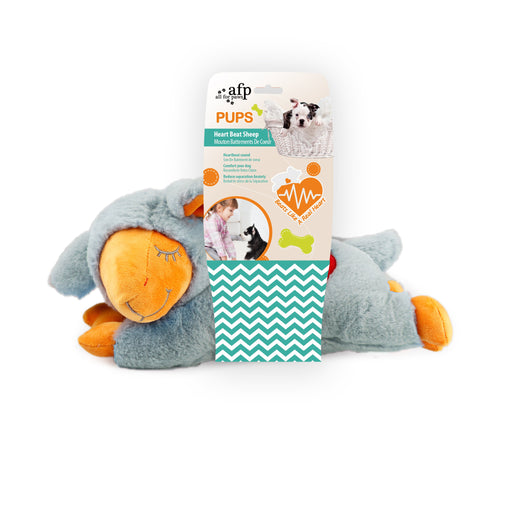 All for Paws Pups Heart Beat Sheep Dog Toy - Kohepets