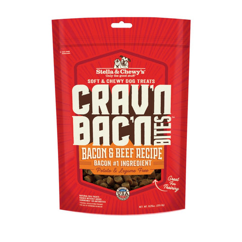 Stella & Chewy's Crav'n Bac'n Bites Bacon & Beef Dog Treats 8.25oz - Kohepets