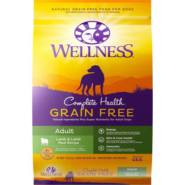 Wellness Complete Health Grain Free Adult Lamb & Lamb Meal Dry Dog Food