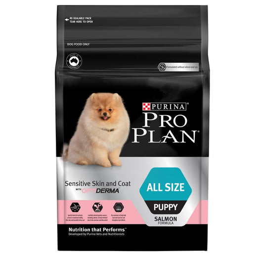 'FREE TREATS' + 15% OFF: Pro Plan Optiderma Salmon All Size Puppy Food 2.5kg