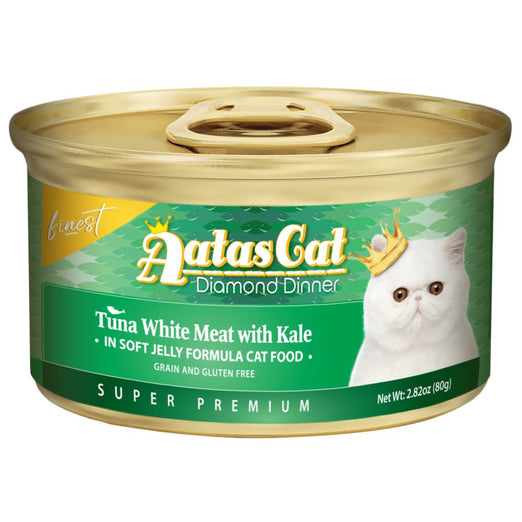 Aatas Cat Finest Diamond Dinner Tuna with Kale in Soft Jelly Canned Cat Food 80g