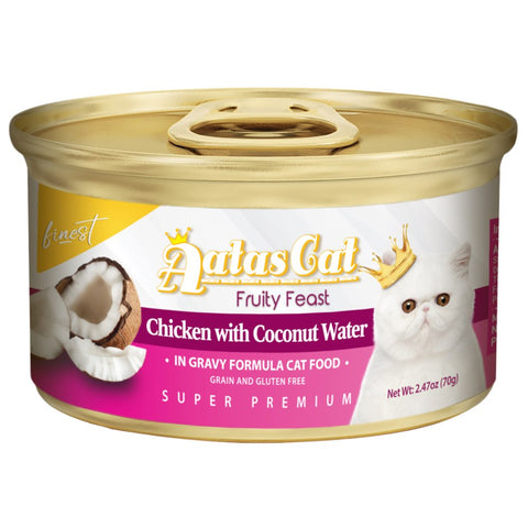 Aatas Cat Finest Fruity Feast Chicken With Coconut Water Canned Cat Food 70g