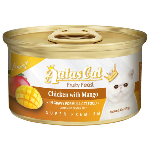 Aatas Cat Finest Fruity Feast Chicken With Mango Canned Cat Food 70g - Kohepets