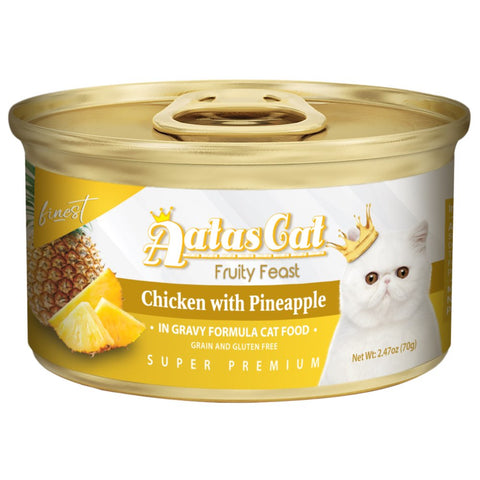 Aatas Cat Finest Fruity Feast Chicken With Pineapple Canned Cat Food 70g - Kohepets