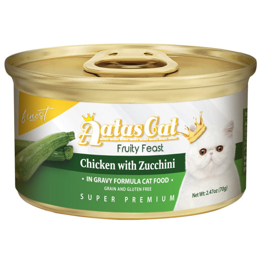 Aatas Cat Finest Fruity Feast Chicken With Zucchini Canned Cat Food 70g - Kohepets