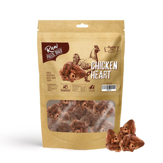 33% OFF: Absolute Bites Chicken Heart Freeze Dried Raw Dog & Cat Treats 65g - Kohepets