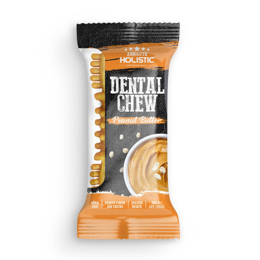 Absolute Holistic Peanut Butter Grain-Free Dental Dog Chew Treat 25g - Kohepets