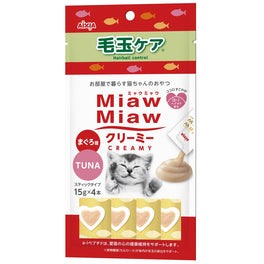 Aixia Miaw Miaw Creamy Tuna Hairball Control Liquid Cat Treats 60g