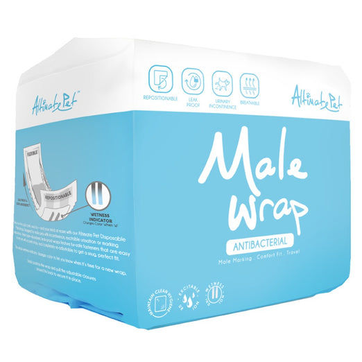 Altimate Pet Antibacterial Disposable Male Wrap - Kohepets
