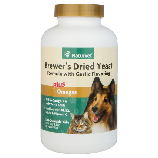20% OFF: NaturVet Brewer's Dried Yeast Plus Omegas 500 count - Kohepets