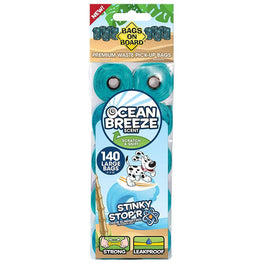 Bags On Board Ocean Breeze Scent Bag Refill Pack 140ct