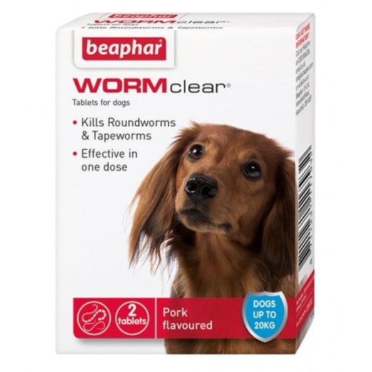 Beaphar WormClear Tablets For Small Dogs 2 tabs