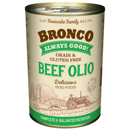 15% OFF: Bronco Beef Olio Grain-Free Canned Dog Food 390g