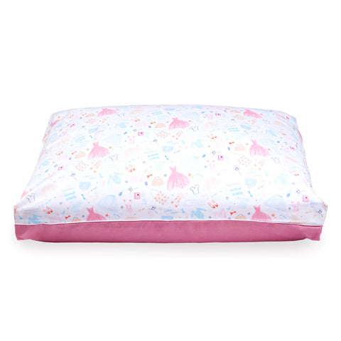 DreamCastle Natural Dog Bed Cover (Bella the Ballerina) - Kohepets