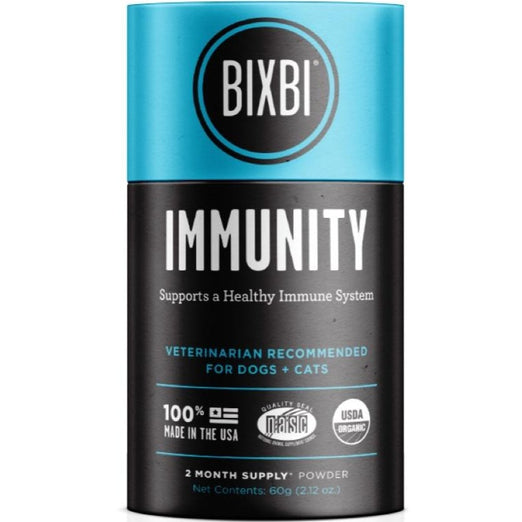 Bixbi Immunity Support Powdered Mushroom Supplement For Cats & Dogs 60g - Kohepets