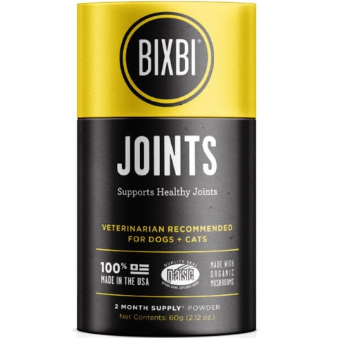 Bixbi Joint Support Powdered Mushroom Supplement For Cats & Dogs 60g - Kohepets