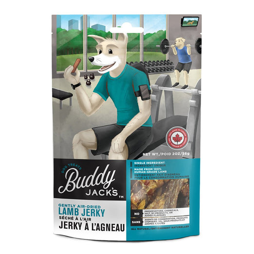 30% OFF: Canadian Jerky Buddy Jack's Air-Dried Lamb Jerky Dog Treats 56g - Kohepets