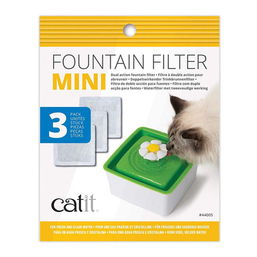 Catit Flower Mini Fountain Dual Action Filter 3ct - Kohepets