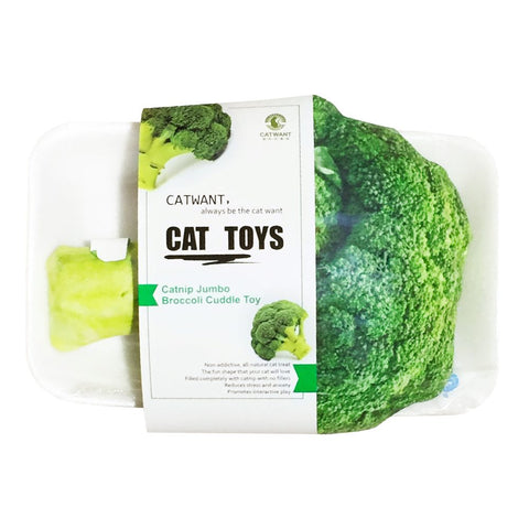 CatWant Jumbo Broccoli Cuddle Cat Toy - Kohepets