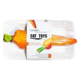 CatWant Jumbo Carrot Cuddle Cat Toy