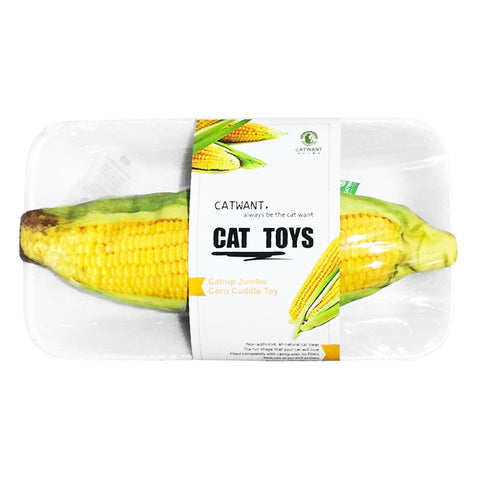 20% OFF: CatWant Jumbo Corn Cuddle Cat Toy - Kohepets