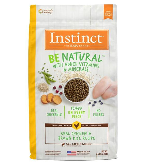 18% OFF 4.5lb (Exp May 21): Instinct Be Natural Real Chicken & Brown Rice Dry Dog Food - Kohepets