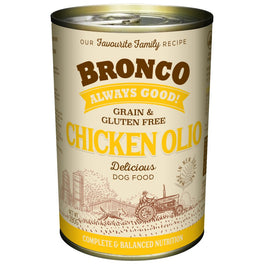 15% OFF: Bronco Chicken Olio Grain-Free Canned Dog Food 390g