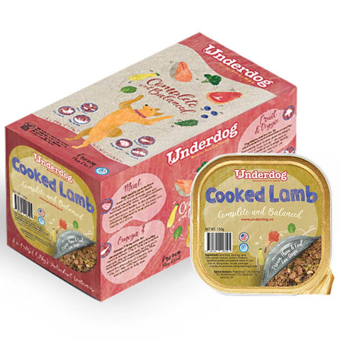 Underdog Cooked Lamb Complete & Balanced Frozen Dog Food 1.2kg - Kohepets