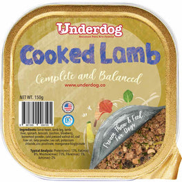 Underdog Cooked Lamb Complete & Balanced Frozen Dog Food 150g