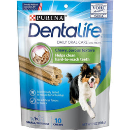 Dentalife Daily Oral Care Dental Small/Medium Dog Treats 198g
