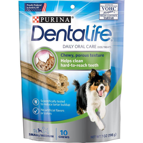 40% OFF: Dentalife Daily Oral Care Dental Small/Medium Dog Treats 10 chews - Kohepets