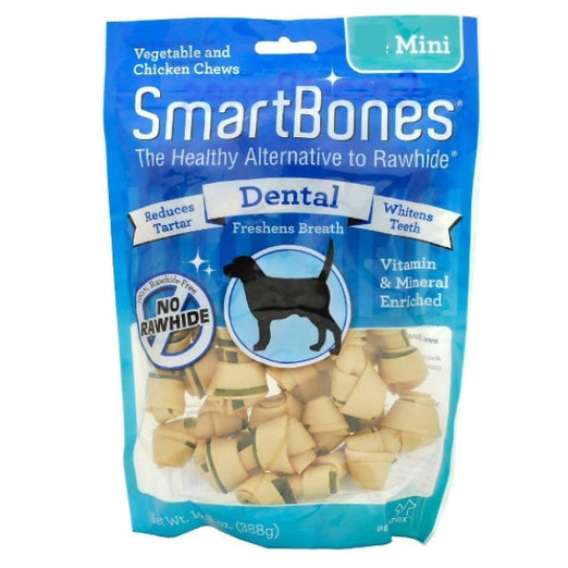 SmartBones Rawhide-Free Dental MINI Dog Chews - Kohepets