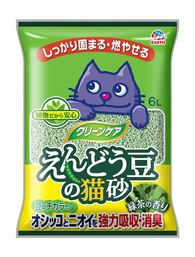 Earth Pet Green Pea Green Tea Cat Litter 6L - Kohepets