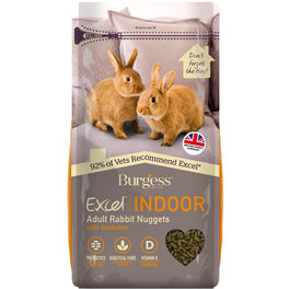 Burgess Excel Indoor Adult Rabbit Nuggets Rabbit Pellet Food 1.5kg