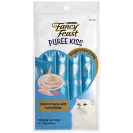 Fancy Feast Puree Kiss Chicken Puree With Tuna Flakes Cat Treats 40g