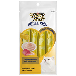 Fancy Feast Puree Kiss Tuna Puree With Chicken Flakes Cat Treats 40g