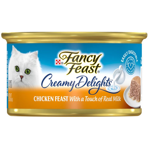 Fancy Feast Creamy Delights Chicken Feast Canned Cat Food 85g