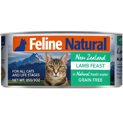 Feline Natural Lamb Feast Grain-Free Canned Cat Food 85g