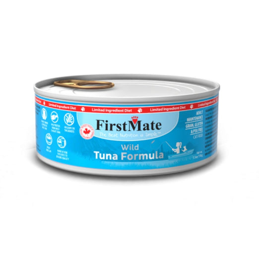 FirstMate Grain Free Wild Tuna Formula Canned Cat Food 156g - Kohepets